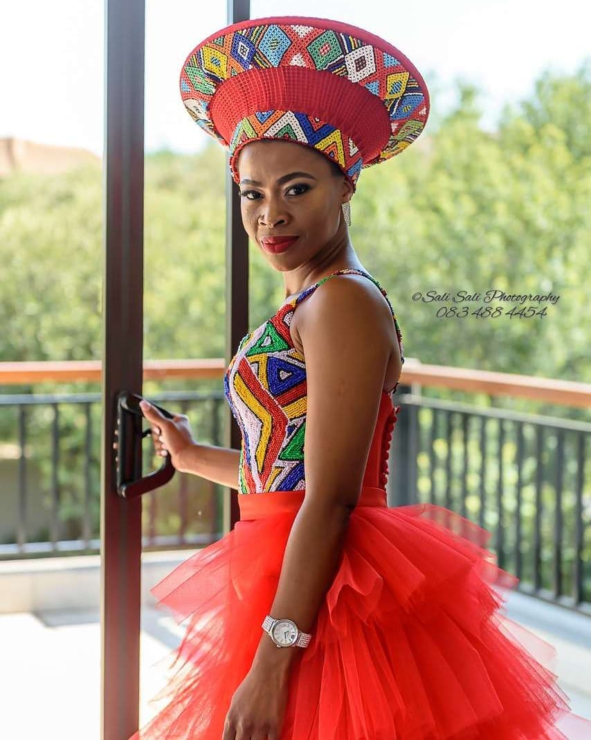 South AFrican Wedding Ndebele bride | South african